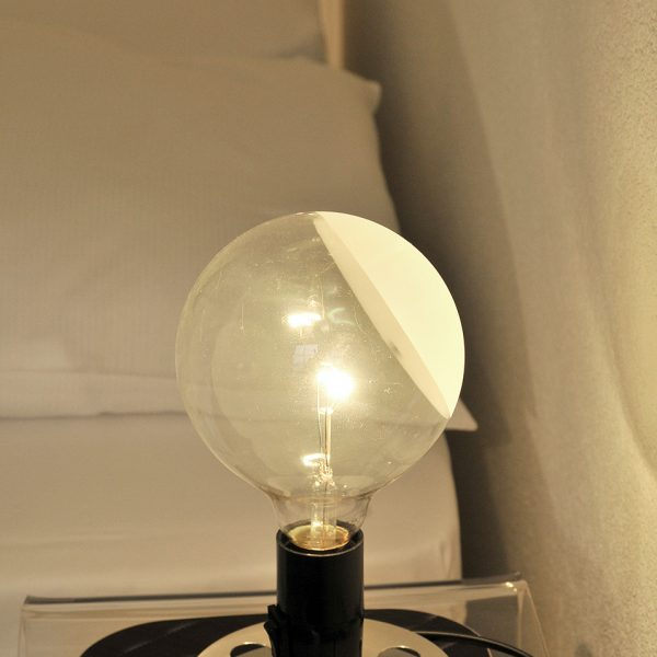 "Modern bedside lamp in the Tralala Swiss Design & Lifestyle Hotel ""S"" Small Rooms in Montreux"