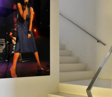Montreux Jazz festival photo by Tralala Hotel stairs. The hotel offers guests early booking deals.