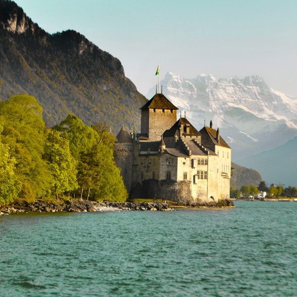 One of the top historic attractions in the Montreux Riviera is the impressive Chillon Castle